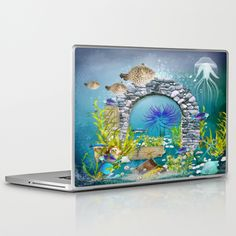 Unterwasserlandschaft Laptop & iPad Skin