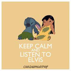 Keep calm and listen to Elvis - Lilo & Stitch Disney Actual, Disney Fun, Disney Style, Disney Magic, Walt Disney, Disney And Dreamworks, Disney Pixar, Disney Characters, Lelo And Stich