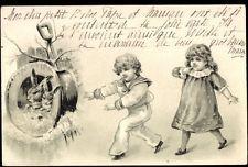 Präge Ak Heureuses Pâques, Glückwunsch Ostern, Kinder, Osterhase - 773067