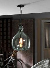 Lámpara de Cristal Soplado : Modelo LAIA Azul