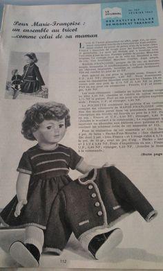 Poupées Modes et Travaux - Page Originale- Février 1962- | Jouets et jeux, Poupées, vêtements, access., Autres | eBay!