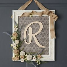 Arts and Crafts Store - framed monogram wreath – unique decor ideas – DIY home decor ideas Best Picture For decoration - Monogram Wreath, Monogram Frame, Diy Wreath, Wreath Ideas, Monogram Door Decor, Initial Decor, Initial Door Hanger, Door Wreaths, Burlap Wreath
