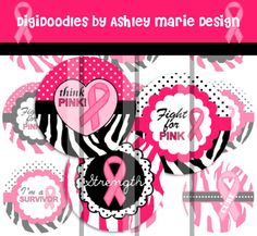 Items similar to Breast Cancer Awareness Hot Pink Black Zebra Polka Dots Set - Strength Faith Hope - Digital Bottle Cap Images for jewelry and hair bows on Etsy Bottle Cap Jewelry, Bottle Cap Crafts, Bottle Caps, Pink Black, Hot Pink, Save The Tatas, Image Sheet, Pink Power, Bottle Cap Images