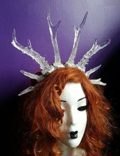 Icicle antler crown hand crafted Made to order by HysteriaMachine, £75.00
