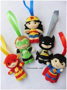 Christmas ornaments superheroes los vengadores felt The