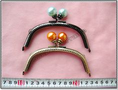 2pieces 5inch12cm Pearlcolorfulbead metal bag by GinaPurseFrame, $8.00