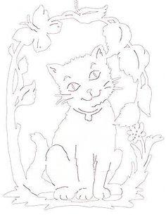 witraż - kot