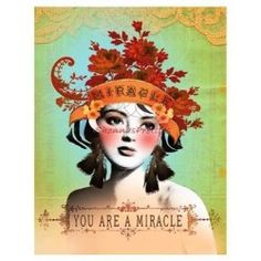 You Are A Miracle Papaya Magnet