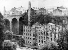 Top Torr Mill after fire and Union Road Bridge