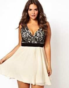Little Mistress Lace Body Skater Dress $88.24