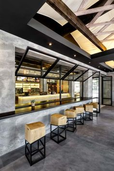 The new architectural concept for Goody's Burger House restaurants was created by Chadios+Associates in response to the company's desire to redefine the identity of its fast food venues that have e…