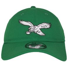 952f8f0653c Show your love for the Philadelphia Eagles with this vintage Philadelphia  Eagles kelly green adjustable dad hat from New Era. Cheer on the Eagles  while ...