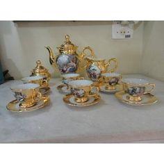 #11327 - jogo café porcelana dd com ouro!!!