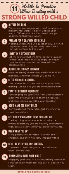 How to deal with a STRONG WILLED child. Parenting tips for when your child has a ind of their own and doesn't want to listen. # Parenting photos 11 Habits to Practice When Dealing with a Strong Willed Child Parenting Books, Gentle Parenting, Good Parenting, Parenting Humor, Parenting Classes, Parenting Strong Willed Child, Parenting Plan, Natural Parenting, Peaceful Parenting