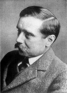 H. G. Wells, 1866-1946. (Br.) novelist. The Time Machine, The Invisible Man, The War of the Worlds.