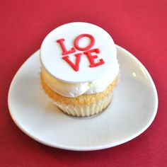 LOVE fondant cupcake toppers $17 for 1 dozen
