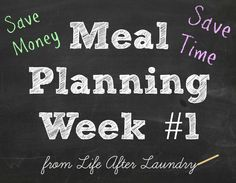 Meal Planning Week #1, ideas and inspiration for your planning process | lifeafterlaundry.com | #weekly #recipes #meal #planning