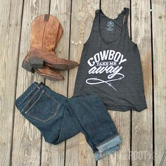 Super cute outfit for a country music festival like Stagecoach! Cowboy Take Me Away available exclusively at tumbleroot.com. :)