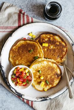 Savory Pancakes with Corn and Scallions (Dairy Free) - These simple ...