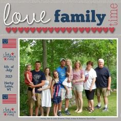 Patriotic scrapbook layout using My Digital Studio software from Stampin' Up!