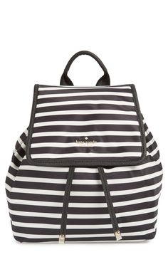 Adding this cute striped Kate Spade backpack to the wishlist.