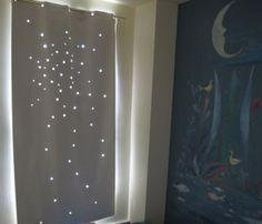 Curtain with star cutouts ~ Toddler Daytime Nap Curtain