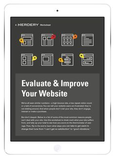 Evaluate & Improve Your Website -  Worksheet