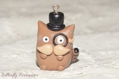 Like a Sir polymer clay (fimo) cat