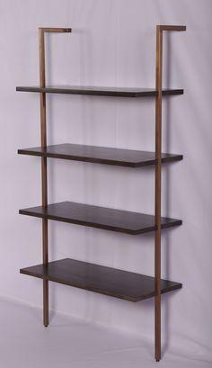 Acacia Wood, Wall Mounted Bookshelf
