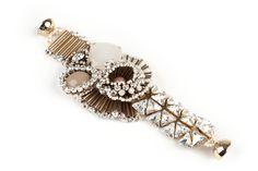 Tataborello crystal cream bracelet