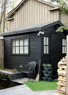 I bought a paint spray gun. I painted everything with it. EVERYTHING. My potting shed, picket fence, front porch & wicker furniture. This shed took 1.5 hrs!
