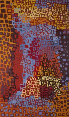 Beryl Jimmy, 'Watarru,' acrylic on linen, 200cm x 120 cm., finalist, 30th Telstra National Aboriginal & Torres Strait Islander Art Award, Darwin, 2013