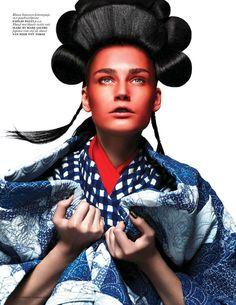Futuristic Geisha Editorials : Vogue