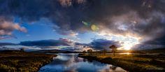 Sunrise over Loch Ba, Rannoch Moor, Scotland.
