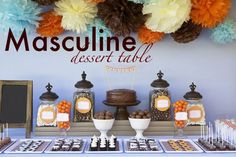 Masculine Dessert Table- 30th Birthday Party - Kara's Party Ideas - The Place for All Things Party