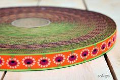 NEU** WEBBAND Bloomen neon**NEU von schuys auf DaWanda.com