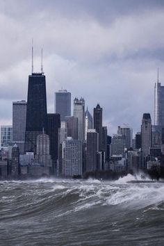 Waves on the skyline (Chicago Pin of the Day, Illinois Travel Destinations Honeymoon Backpack Backpacking Vacation Budget Off the Beaten Path Wanderlust Visit Chicago, Chicago Usa, Chicago River, Chicago City, Chicago Skyline, Chicago Illinois, Milwaukee City, Chicago University, Chicago Lake