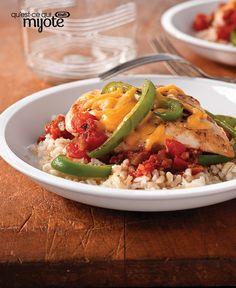 Poulet à la salsa et au cheddar #recette