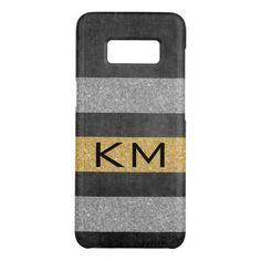 #glitter - #Gold Glitter with Monogram Case-Mate Samsung Galaxy S8 Case