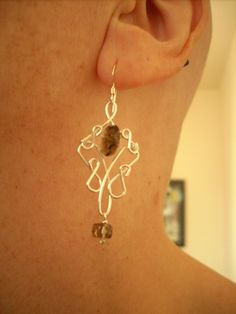 Smokey quartz earring. lousebdesigns.