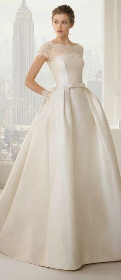 vestido clássico de noiva