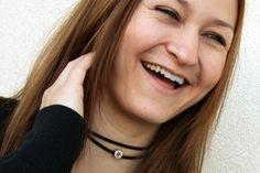 Swarovski rhinestone chocker black choker necklace by PYKNIC2