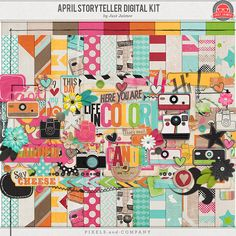 Storyteller April Digital Scrapbooking Kit