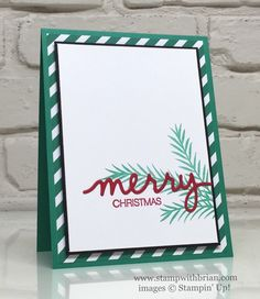 Christmas Pines, Holly Jolly Greetings, Christmas Greetings Thinlits, Stampin' Up!, Brian King, CTS#194