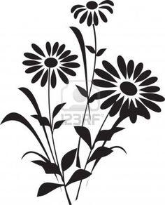 Illustration of Flower (silhouette) vector art, clipart and stock vectors. Flower Silhouette, Silhouette Painting, Silhouette Images, Silhouette Vector, Silhouette Design, Silhouette Cameo, Glass Hinges, Clip Art, Vector Flowers