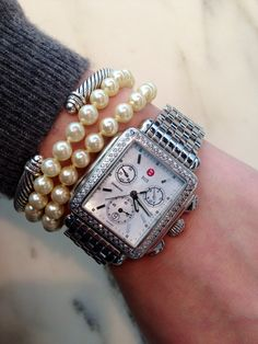 Michele watch, David Yurman, and pearls a girl can dream right???!