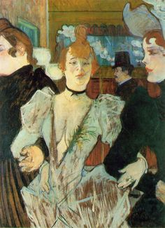 Henri de Toulouse-Lautrec - La Goulue Arriving at the Moulin Rouge with Two Women   (1892)