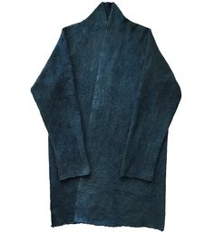 Indigo blue japanese asian haori noragi sashiko jacket