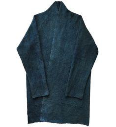 Indigo blue japanese asian haori noragi sashiko jacket