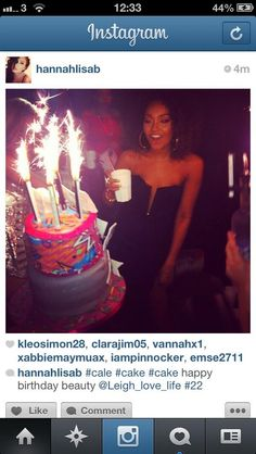 Leigh-Anne's bday cake was awesome!!
